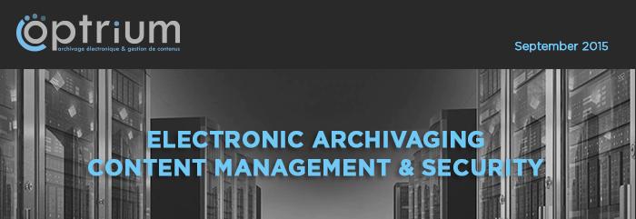 Optrium - Electronic archiving content management & security